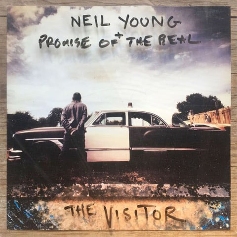 Neil Young The Visitor album cover